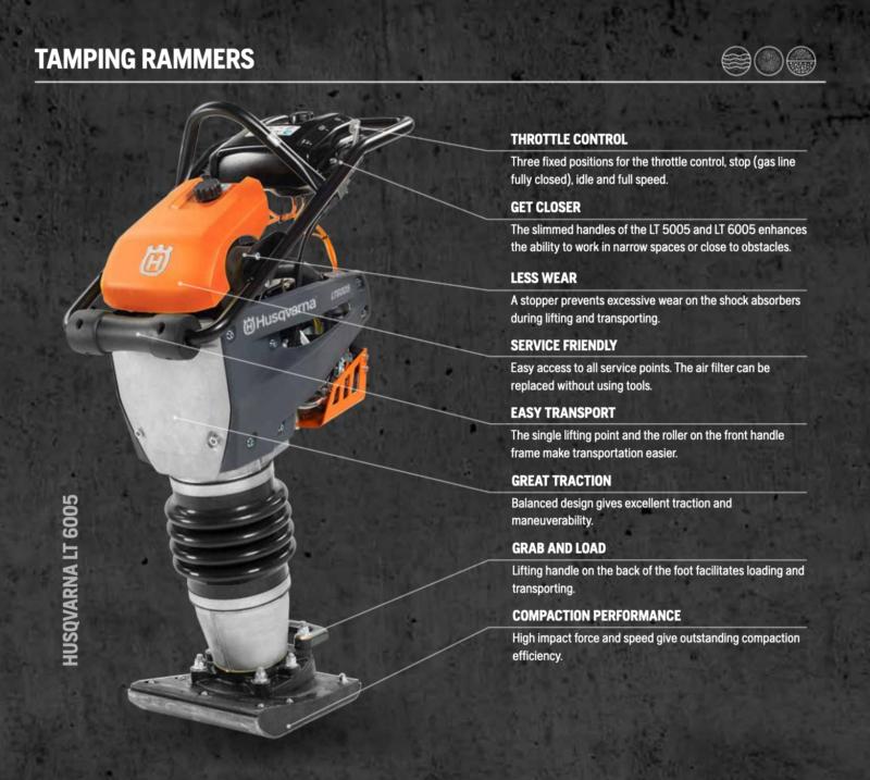 Husqvarna LT Tamping Rammers