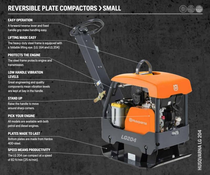 Husqvarna Reversible Plate Compactor
